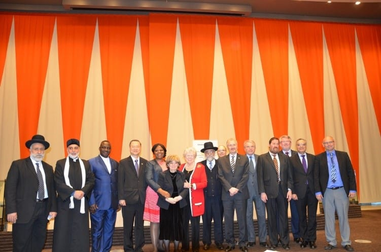Master Lu with leading politicians, religious leaders and representatives from academia and UNESCO.