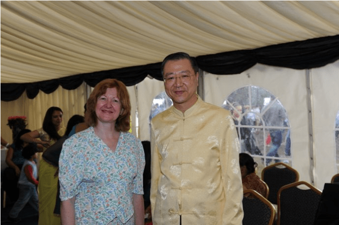 Master Lu and Victoria Borwick (the Deputy Mayor of London)