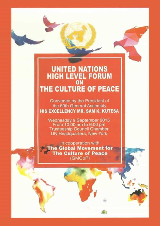 United Nations High Level Forum on The Culture of Peace- Front Cover