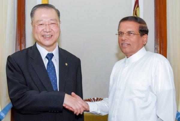 Master Lu and President Maithripala Sirisena