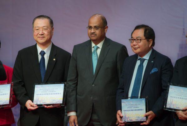 Master Lu, Dato'Ilango Karuppannan and Chairman Xiao Wunan