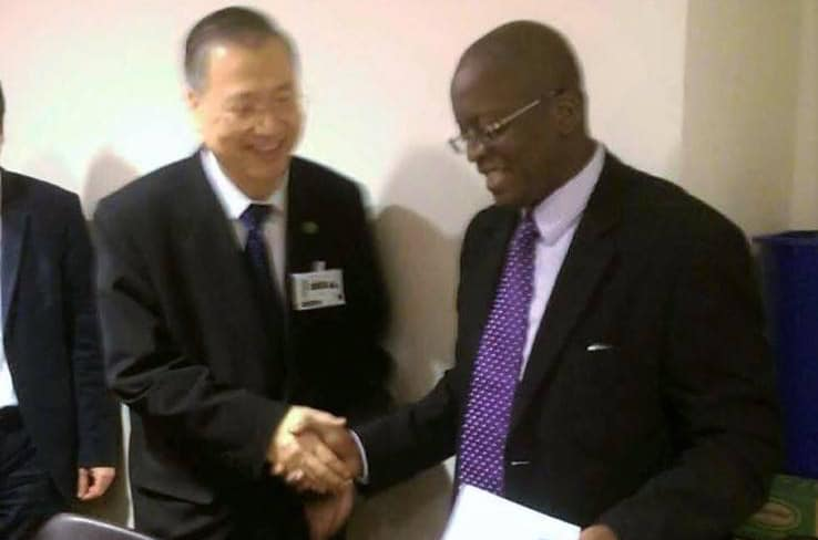 Master Lu meets with President of the United Nations General Assembly.