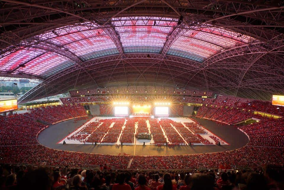 Master Jun Hong Lu's Dharma Talk in Singapore is attended by an audience of 80,000 in 2017