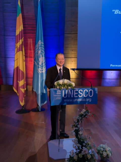 Master Lu is invited to give a keynote speech at the United Nations Day of Vesak Commemoration at the UNESCO Headquarters in Paris, May 2017